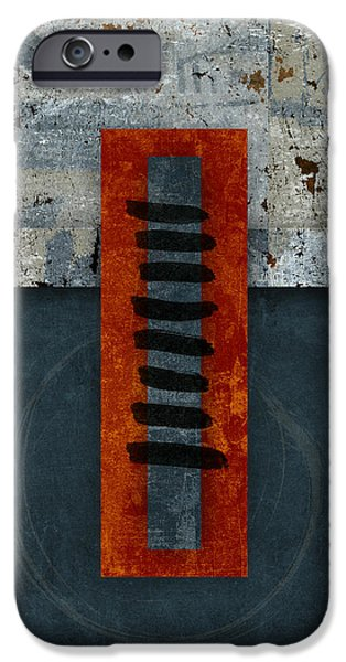 iPhone 6 Case - Fiery Red And Indigo One Of Two by Carol Leigh