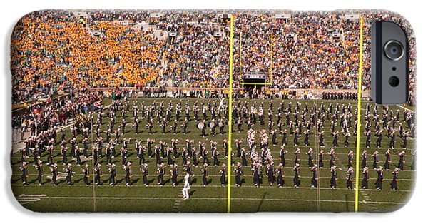 Marching Band Photographs iPhone Cases - Fighting Irish Marching Band iPhone Case by David Bearden