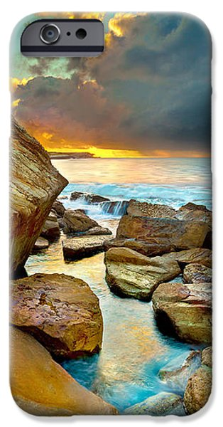 Pacific Ocean iPhone 6 Case - Fire In The Sky by Az Jackson
