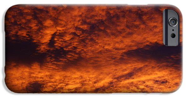 Colorado Fires iPhone Cases - Fire in the Sky iPhone Case by Ernie Echols