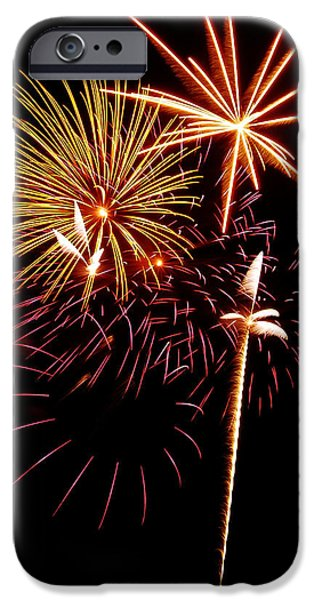 Fireworks iPhone Cases - Fireworks 1 iPhone Case by Michael Peychich