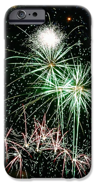 Fireworks Photographs iPhone Cases - Fireworks 4 iPhone Case by Michael Peychich