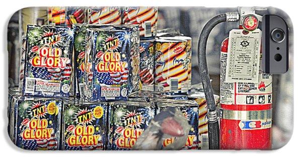 Safety Fuse iPhone 6 Case - Fireworks - Packaged For Sale 2 by Steve Ohlsen