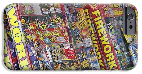 Safety Fuse iPhone 6 Case - Fireworks - Packaged For Sale by Steve Ohlsen