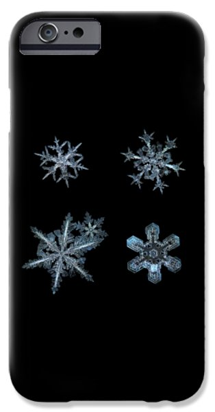 Five Snowflakes On Black 3 IPhone 6 Case