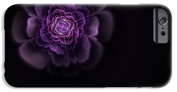 Flame Fractal iPhone Cases - Fleur iPhone Case by John Edwards