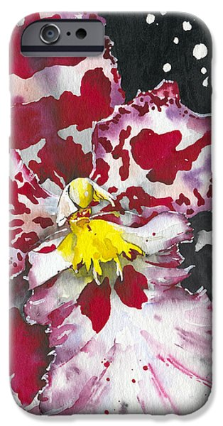 Fineartamerica iPhone Cases - Flower ORCHID 11 Elena Yakubovich iPhone Case by Elena Yakubovich
