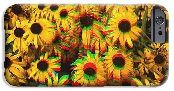 Edit iPhone 6 Case - Flower Trip by Annie Walczyk