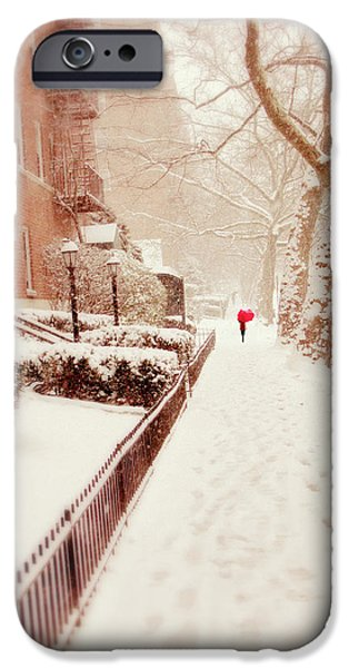 IPhone 6 Case featuring the photograph The Red Umbrella by Jessica Jenney
