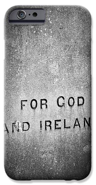 Irish Photographs iPhone Cases - For God and Ireland Macroom Ireland iPhone Case by Teresa Mucha