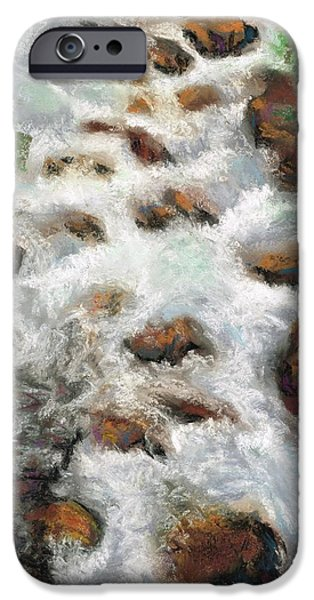 Creek Pastels iPhone Cases - For Those Who Flyfish iPhone Case by Frances Marino