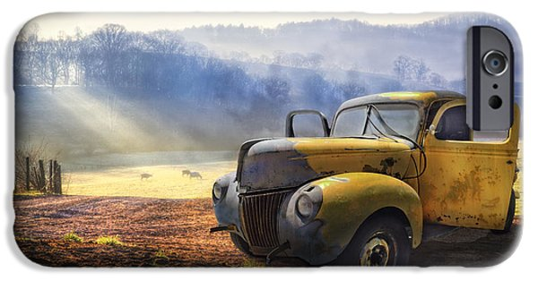 Landscape iPhone 6 Case - Ford In The Fog by Debra and Dave Vanderlaan