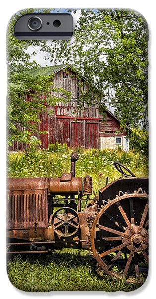Old Barns iPhone Cases - Forefathers II iPhone Case by Debra and Dave Vanderlaan
