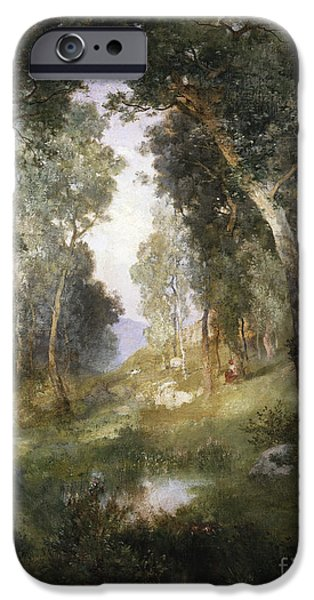 Rural Schools iPhone Cases - Forest Glade iPhone Case by Thomas Moran