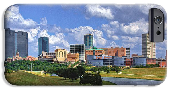 Business Photographs iPhone Cases - Fort Worth #1 iPhone Case by David and Carol Kelly