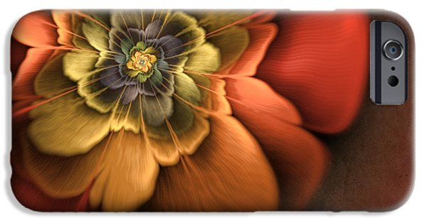 Creativity iPhone Cases - Fractal Pansy iPhone Case by John Edwards