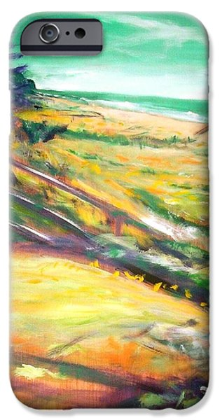 IPhone 6 Case featuring the painting From The Lawn Pandanus by Winsome Gunning