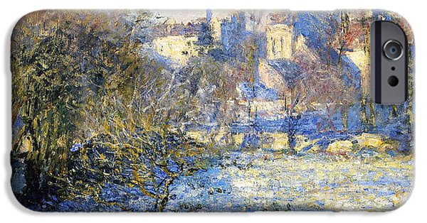 Rural Landscapes iPhone Cases - Frost iPhone Case by Claude Monet