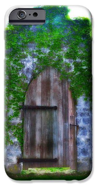 Highlands Digital iPhone Cases - Garden Gate at the Highlands iPhone Case by Bill Cannon