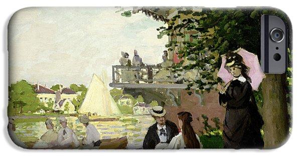 Regatta iPhone Cases - Garden House on the Zaan at Zaandam iPhone Case by Claude Monet