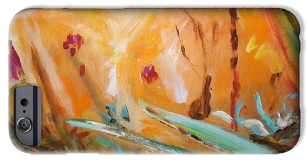 IPhone 6 Case featuring the painting Garden Moment by Winsome Gunning