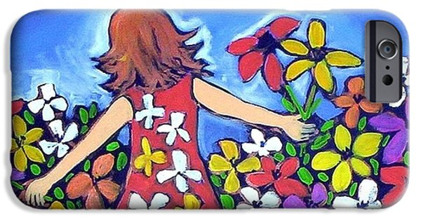 IPhone 6 Case featuring the painting Garden Of Joy by Winsome Gunning