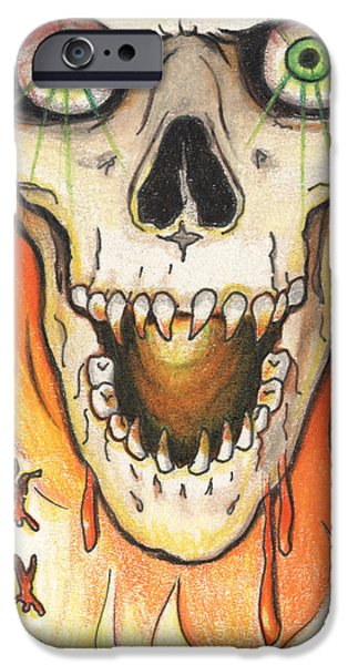 Fallen Angels iPhone Cases - Gaze Into My Eyes iPhone Case by Amy S Turner