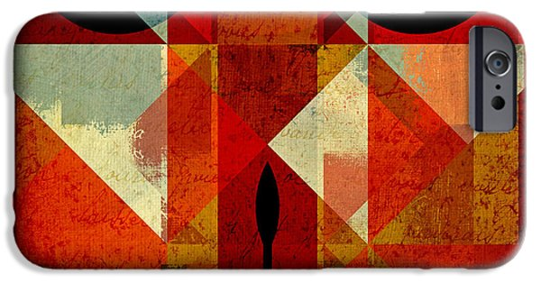Geometric Shape iPhone Cases - Geomix-04 - 39c3at22g iPhone Case by Variance Collections