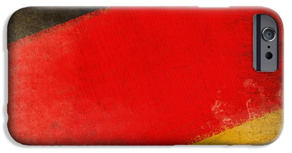Abstract Digital Photographs iPhone Cases - German flag iPhone Case by Setsiri Silapasuwanchai