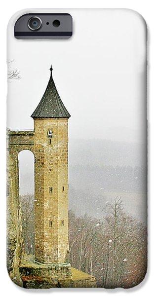 Deutschland iPhone Cases - Germany - Elbtal from Festung Koenigstein iPhone Case by Christine Till