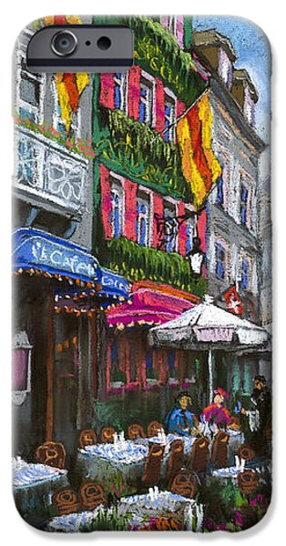 Old Pastels iPhone Cases - Germany Baden-Baden 10 iPhone Case by Yuriy  Shevchuk