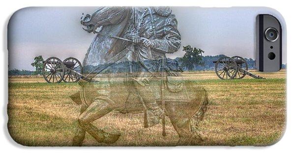 Battle Of Gettysburg Digital iPhone Cases - Ghost Of Gettysburg iPhone Case by Randy Steele