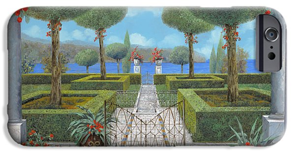 Iron iPhone Cases - Giardino Italiano iPhone Case by Guido Borelli