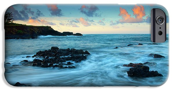 Seascape iPhone Cases - Glass Beach Dawn iPhone Case by Mike  Dawson