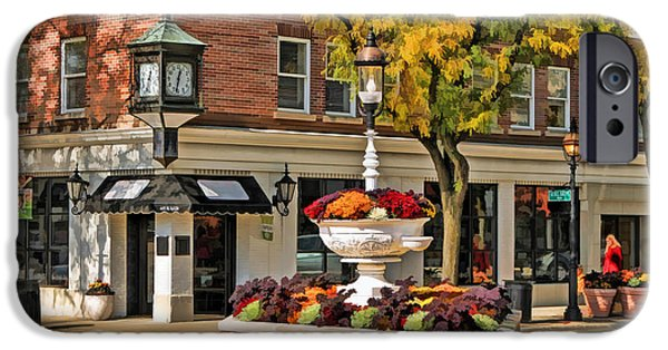 IPhone 6 Case featuring the painting Glen Ellyn Watering Fountain by Christopher Arndt