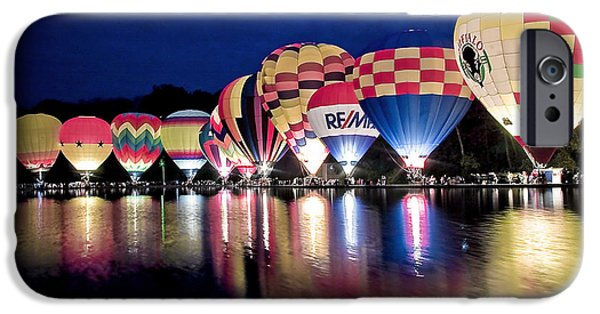 Hot Air Balloon iPhone Cases - Glowing Balloons iPhone Case by Keith Allen