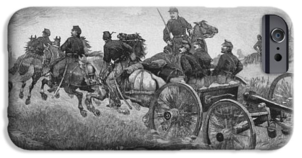 The Horse iPhone Cases - Going Into Battle - Civil War iPhone Case by War Is Hell Store