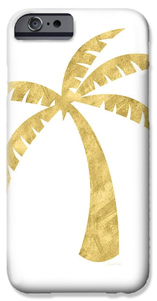 Tree iPhone 6 Case - Gold Palm Tree- Art By Linda Woods by Linda Woods