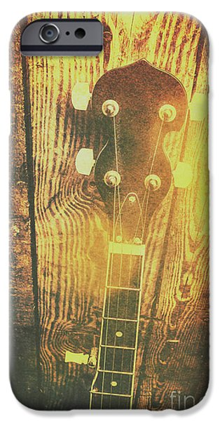 Golden Banjo Neck In Retro Folk Style IPhone 6 Case
