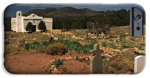 Head Stones iPhone Cases - Golden Mission iPhone Case by Jerry McElroy