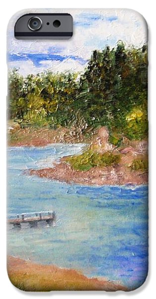 Goldwater Lake iPhone Case by Jamie Frier