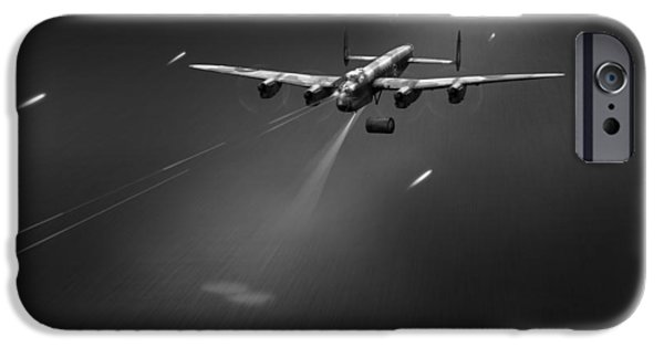 IPhone 6 Case featuring the photograph Goner From Dambuster J-johnny Bw Version by Gary Eason