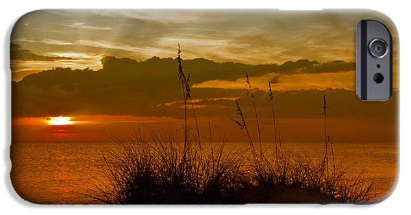 Sun Rays Digital Art iPhone Cases - Gorgeous Sunset iPhone Case by Melanie Viola