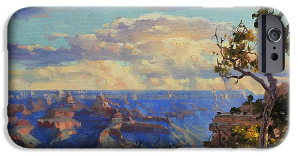 Grand Canyon iPhone Cases - Grand Canyon sunrise iPhone Case by Gary Kim