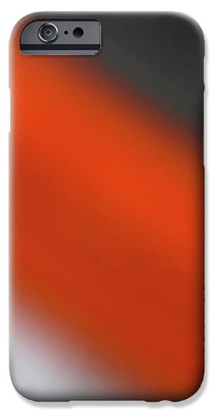 Cmlbrown iPhone Cases - Gray Orange Grey iPhone Case by CML Brown