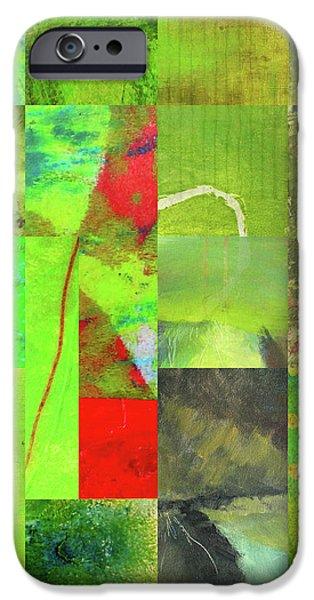 IPhone 6 Case featuring the digital art Green Grid by Nancy Merkle