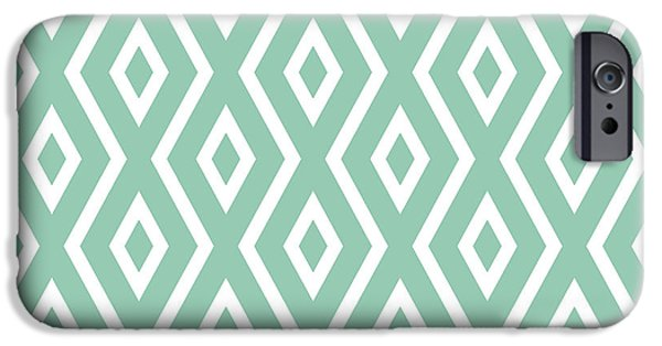 Artwork iPhone 6 Case - Light Sage Green Pattern by Christina Rollo