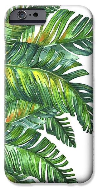 Tree iPhone 6 Case - Green Tropic  by Mark Ashkenazi