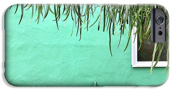 iPhone 6 Case - Green Wall With Leaves by Julie Gebhardt