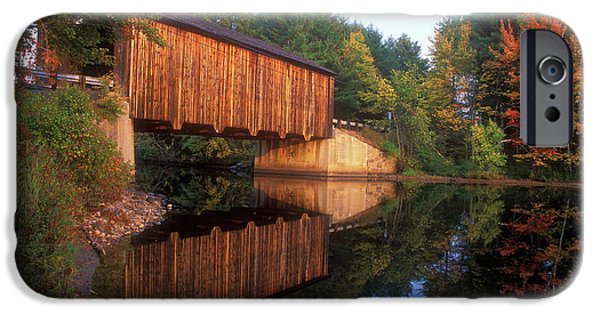 Covered Bridge iPhone Cases - Greenfield NH Covered Bridge iPhone Case by John Burk